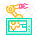 Robotic Arm Mechanism Icon