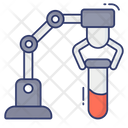 Robotic Arm Test Tube Chemical Icon