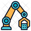 Robotic Arm Grab Icon