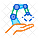 Robotic Delivery Cyber Icon