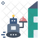 Delivery Robot Food Icon