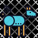 Robotic Dog Technology Icon