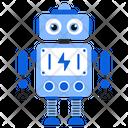 Robotic Energy Bionic Man Humanoid Icon