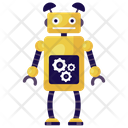 Robotic Management Robot Setting Bionic Man Icon