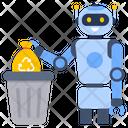 Waste Bin Robotic Waste Disposal Robotic Waste Icon