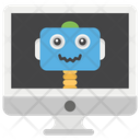 Robotic Work Working Remotely Remote Monitoring Icon