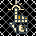 Robotics Touch Hand Icon
