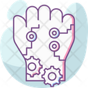 Robotics Hand Arm Artificial Intelligence Icon