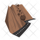 Rock Fall Landslide Avalanches Icon