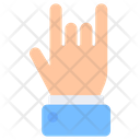 Rock Sign Heavy Sign Horns Sign Icon