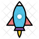 Project Launch Rocket Icon