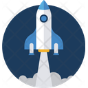 Rocket Icon in Rounded Style
