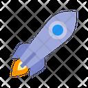 Astronomy Launch Rocket Icon