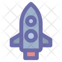 Rocket Spaceship Launch Icon