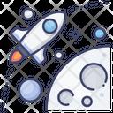 Orbit Space Astronaut Icon