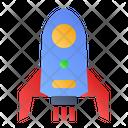 Booster Rocket Spaceship Icon