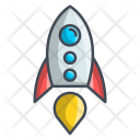 Rocket Space Launch Icon
