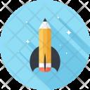 Rocket Launch Pencile Icon