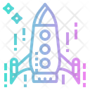 Rocket Transport Launch Icon