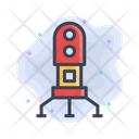 Rocket Spaceship Startup Icon