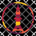 Rocket Launch Spaceship Icon