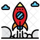 Rocket Ship Space Icon
