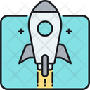 Rocket Aircraft Launch Icon