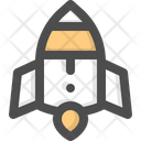 Rocket Transport Launch Icon