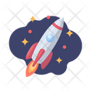 Rocket Space Galaxy Icon
