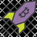 Rocket Bitcoin Profit Icon