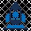Rocket Missile Orbit Icon
