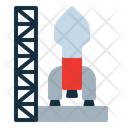 Rocket Launch Mars Icon