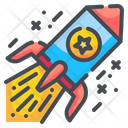 Rocket Celebration Innovation Icon