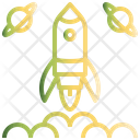 Rocket Planet Space Icon
