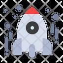 Rocket Spaceship Startup Icon