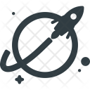 Rocket Launched Spaceship Icon