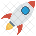 Rocket Startup Spaceship Icon