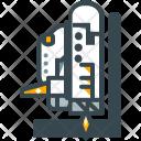 Launching Rocket Launch Icon
