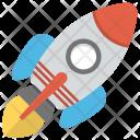 Rocket Cartoon Spaceship Icon