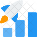 Rocket And Chart Growth Graph Bar Chart Icon