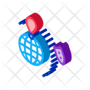 Rocket Fly Around Icon