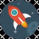 Rocket Galaxy Spaceship Icon