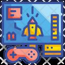 Starship Rocket Gaming Electronics Technology Icon
