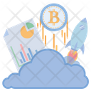 Bitcoin File Rocket Icon