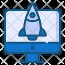 Rocket Launch Marketing Seo Icon