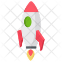Rocket Launch Icon in Isometric Style