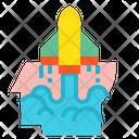 Rocket Launch Idea Icon