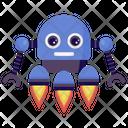 Rocket Robot Icon