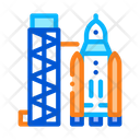 Space Tower Concept Icon