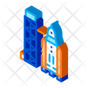 Space Tower Technology Icon